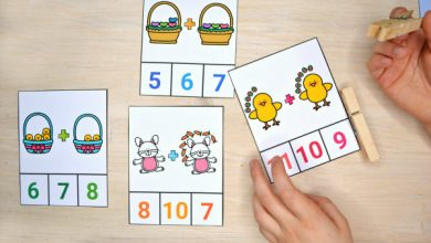 Photo of Easter Addition and Subtraction Clip Cards