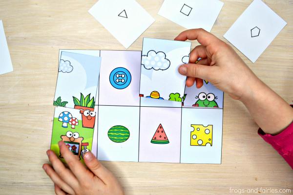 Shape Matching Puzzles