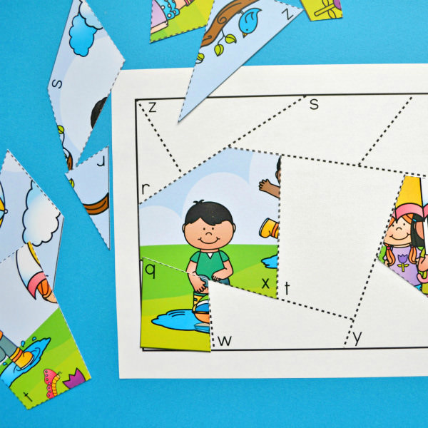 Spring Letter Matching Puzzles