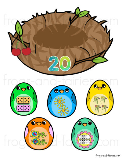 Bird Nest Number Match Printable Activity