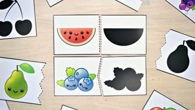 Photo of Fruit and Vegetable Shadow Match Puzzle & Clip Card Pack