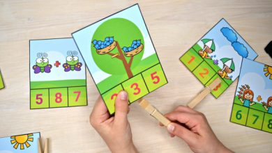 Photo of Spring Addition & Subtraction Clip Cards