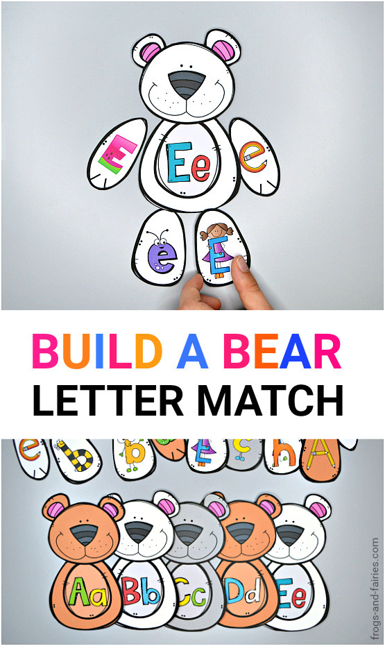 Build a Bear Letter Match Printable Activity