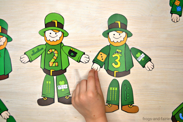 Build a Leprechaun Number Match St. Patrick's Day Printable Activity