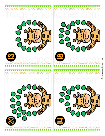 Animal Counting Cards - Write & Wipe