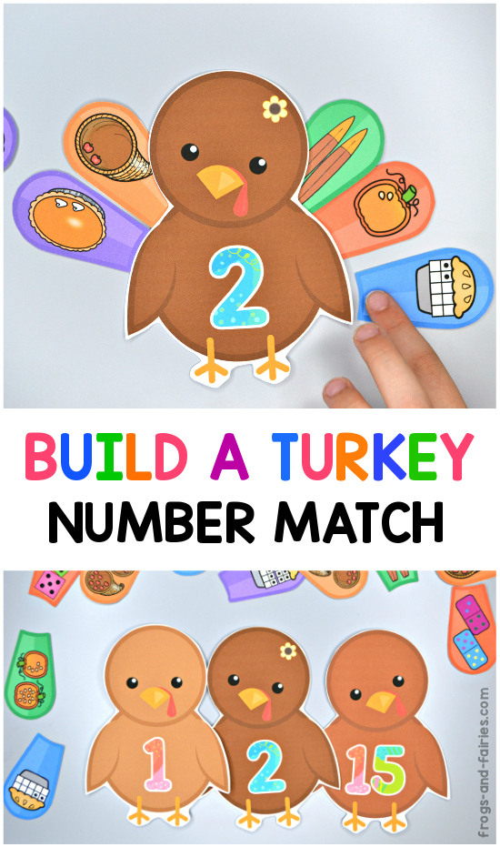 Build a Turkey Number Match