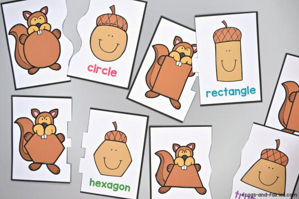 Squirrel & Acorn Shape Puzzles