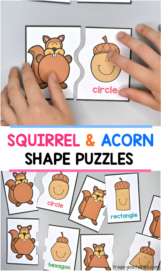Squirrel & Acorn Shape Puzzles