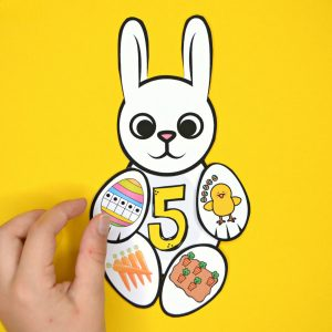 Build an Easter Bunny Number Match