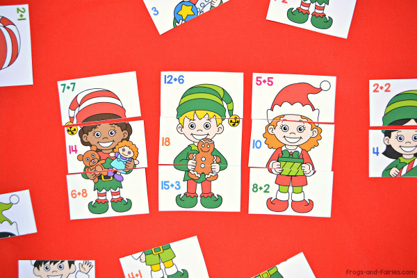 Christmas Elf Addition Puzzles