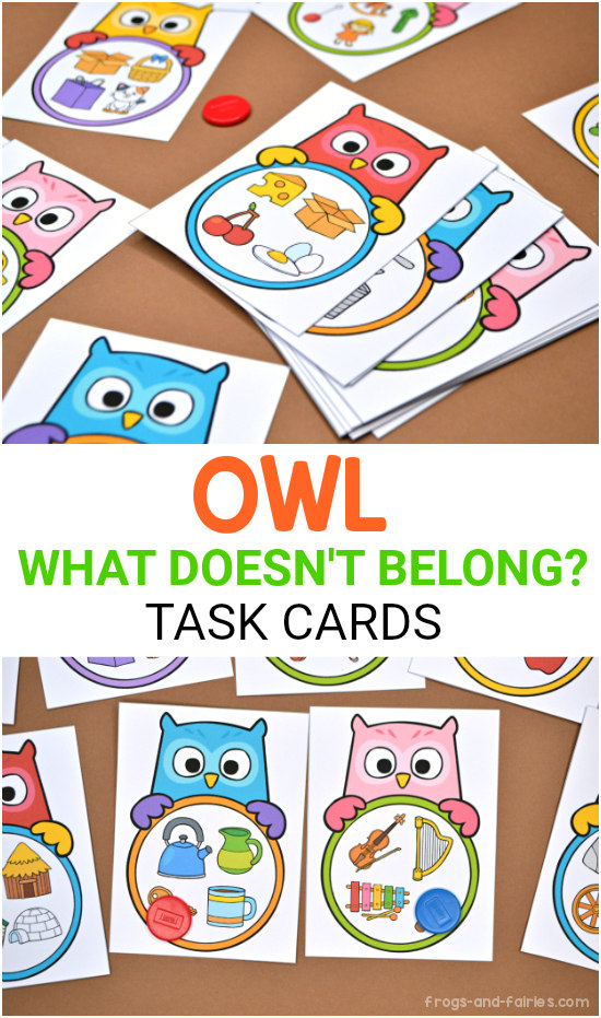 What Doesn't Belong Owl Task Cards