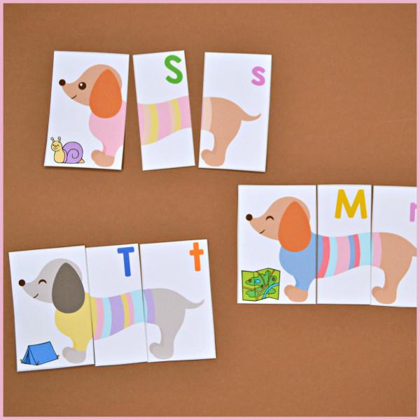 Dog Alphabet Puzzles - Letters & Letter Sounds