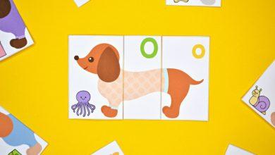 Photo of Dachshund Dog Alphabet Puzzles
