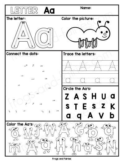 Alphabet Letter Worksheets A-Z