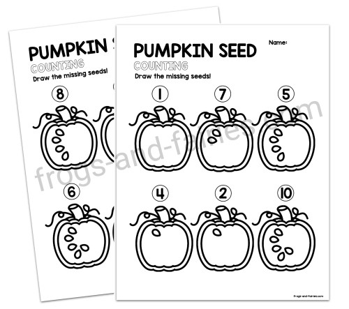 Pumpkin Seed Counting Worksheets