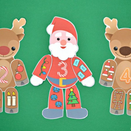 Santa & Reindeer Number Match