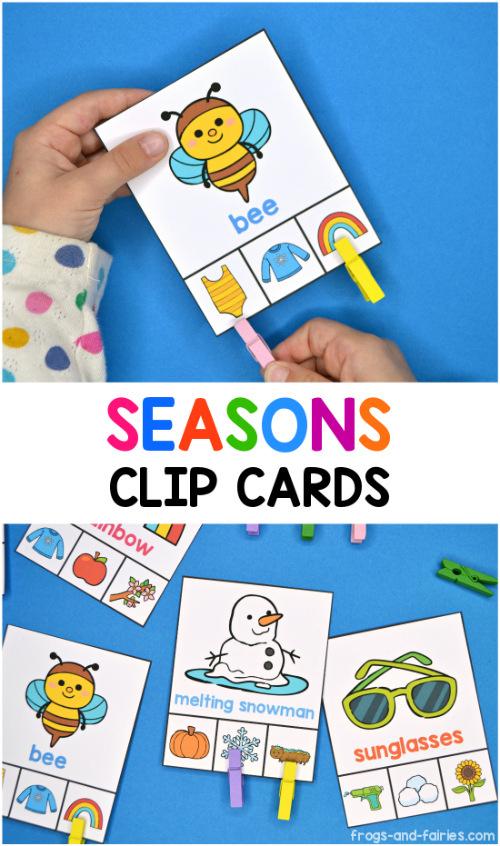 Seasons Clip Cards
