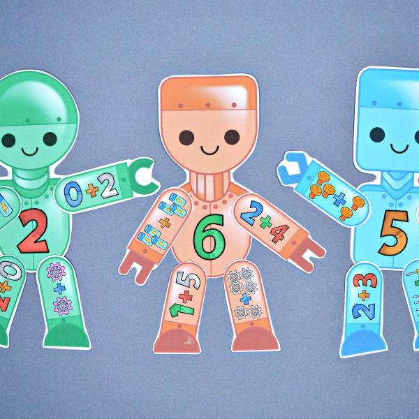 Build a Robot Addition Match