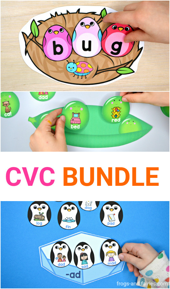 CVC Bundle - Rhyming, Words Families and Building Words