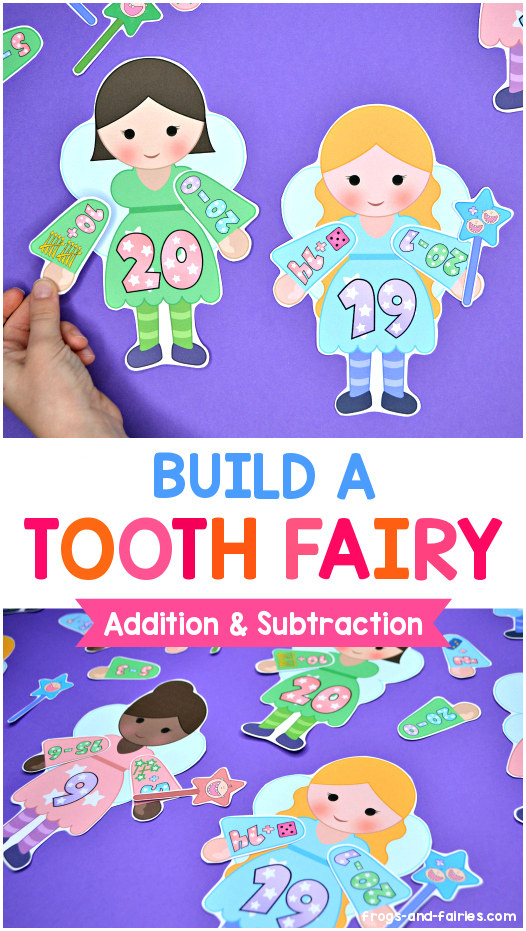 Build a Tooth Fairy Addition and Subtraction Match