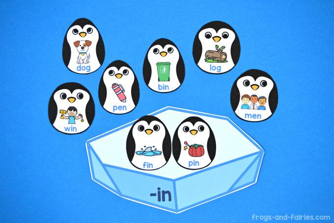 Penguin CVC Word Family Sort
