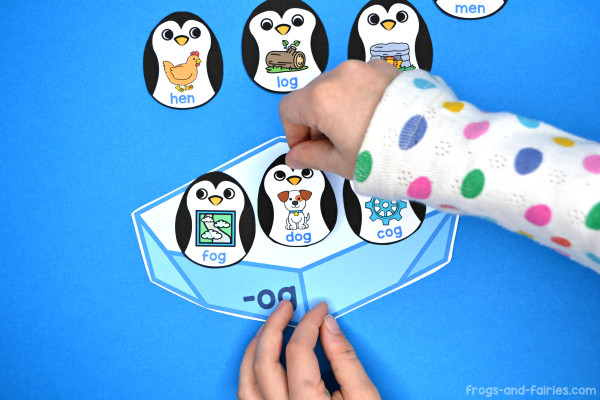 Penguin CVC Word Family Sort