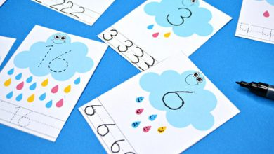 Photo of Rain Cloud Number Tracing Cards