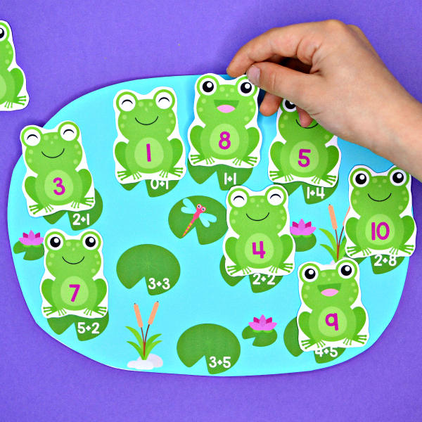 Frogs in the Pond Addition & Subtraction Match