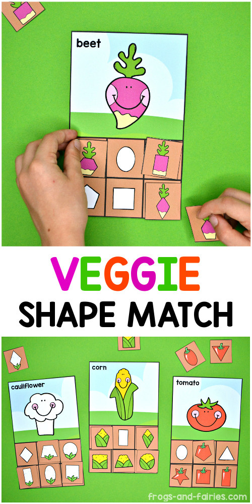 Veggie Shape Match
