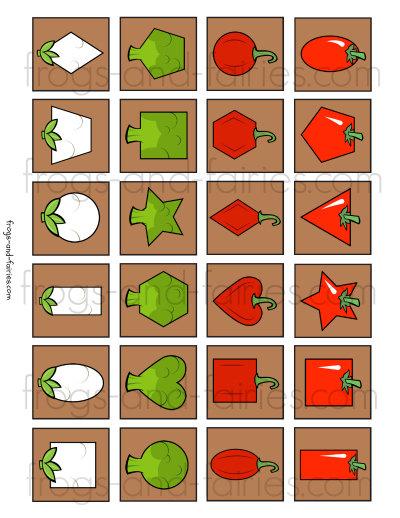 Veggie 2D Shape Match