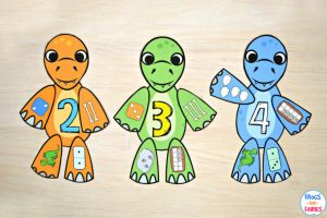 Build a Dinosaur Number Match