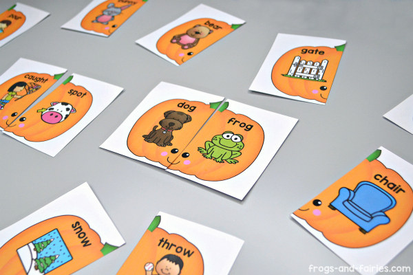 Pumpkin Rhyming Puzzles