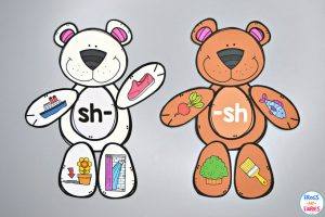 Build a Bear Digraph Match Printable Activity