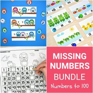 Missing Numbers Bundle - Numbers to 100