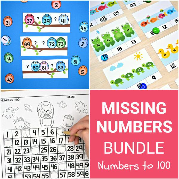 Missing Numbers Bundle - Numbers to 100