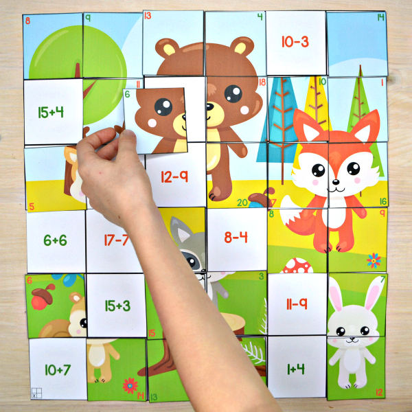 Addition & Subtraction to 20 Mega Puzzle