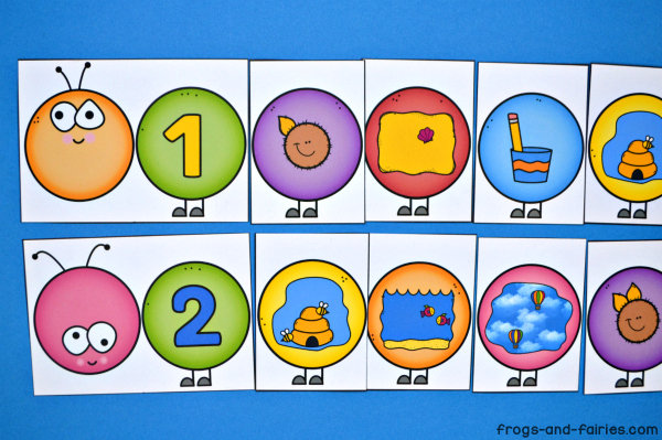 Build a Caterpillar Number Match - Number Sense - Counting to 10