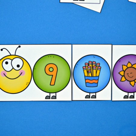 Build a Caterpillar Number Match - Number Sense