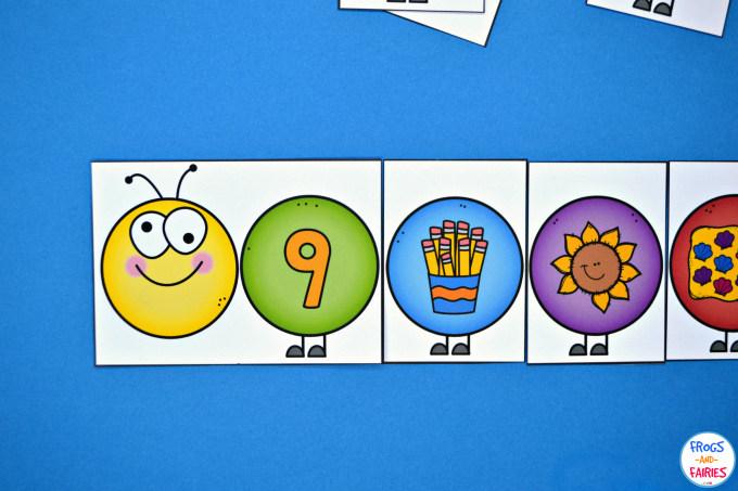 Build a Caterpillar Number Match - Number Sense