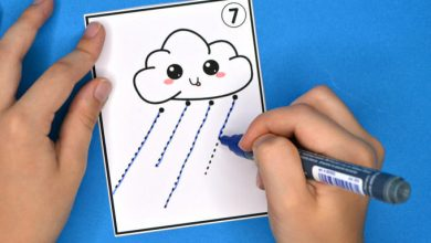 Photo of Rain Cloud Pre-Writing Tracing Cards