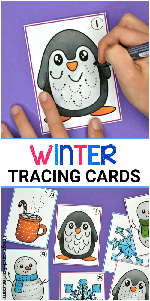 Winter Pre-Writing Tracing Cards