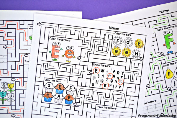 Alphabet Maze Worksheets