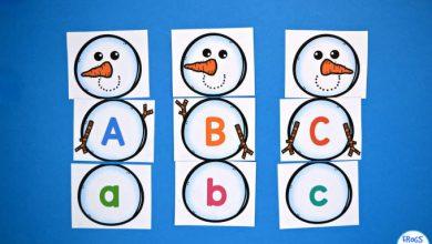 Photo of Snowman Letter Match