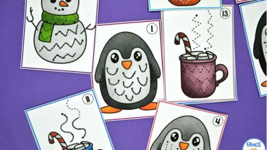 Photo of Winter Pre-Writing Tracing Cards