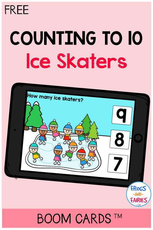Free Boom Cards - Counting to 10 Ice Skaters