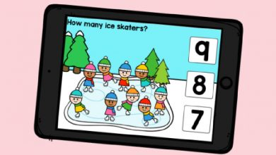 Photo of Free Boom Cards – Counting to 10 Ice Skaters